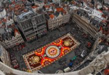 Despite Summer Heat, Brussels' Flower Carpet Emblazons City Center