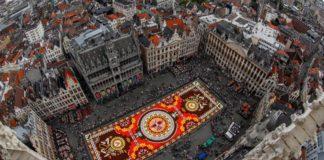 Despite Summer Heat, Brussels' Flower Carpet Emblazons City Center