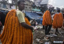 In pics: Mallikghat flower market in Kolkata, India