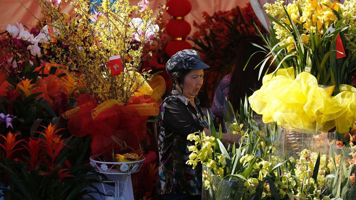 Flower Festival in Westminster sets the scene for Tet
