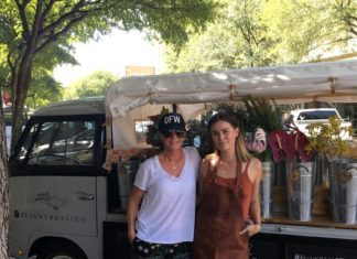 Flower Gals Co. delights Dallas with flower truck